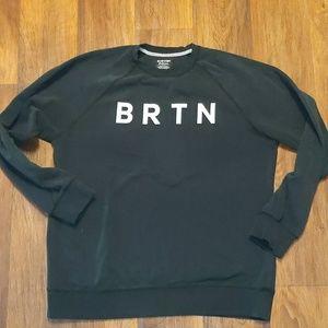Burton black heavy crewneck sweatshirt BRTN XL